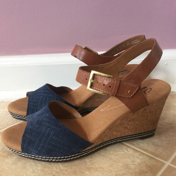 15dd8336c4b2 Clarks Shoes - Clarks collection Helio Jet wedge sandal NWOT